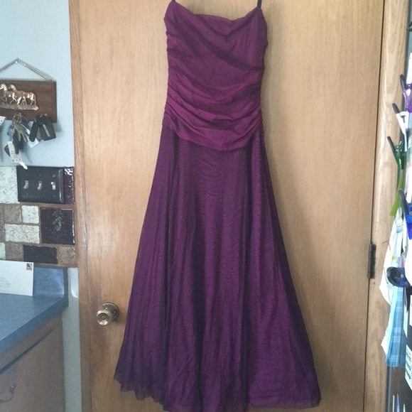 33% off Dresses & Skirts - Dark purple prom dress from Maranda\'s ...